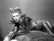 Cushion Metal Prints - Ann Sheridan, Portrait Metal Print by Everett