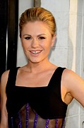 Hair Slicked Back Posters - Anna Paquin At Arrivals For True Blood Poster by Everett