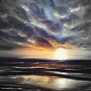 Sunsets Original Paintings - Another Sunset in Paradise 77 by Gina De Gorna
