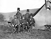 Antietam Framed Prints - Antietam: Officials, 1862 Framed Print by Granger