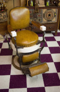 Towels Prints - Antique Barber Chair 3 Print by Douglas Barnett