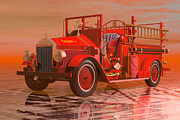 Carol and Mike Werner - Antique fire engine