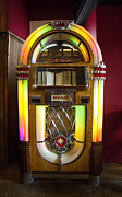 Dance Party Photo Posters - Antique Juke Box Poster by Wayne Shakell