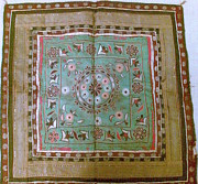 India Tapestries - Textiles - Antique mochi chakla  by Indian Artist
