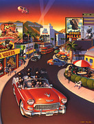 The Strip Framed Prints - Ants on the Sunset Strip Framed Print by Robin Moline