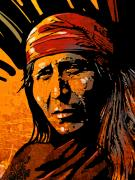 Native American Paintings - Apache Warrior by Paul Sachtleben