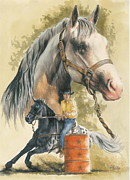 Barrel Mixed Media - Appaloosa by Barbara Keith