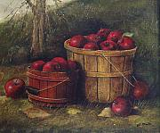 Gala Painting Framed Prints - Apple Harvest Framed Print by Charles Roy Smith