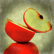 Fruit Still Life Digital Art Posters - Apples Poster by Bernard Jaubert