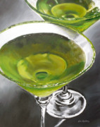 Apple Martini Posters - Appletini Poster by Liz Zahara