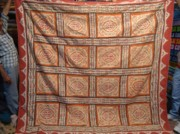 Bedspreads Tapestries - Textiles - Applique Bed Cover by Dinesh Rathi
