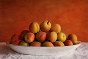 Textured Posters - Apricot Delight Poster by Priska Wettstein