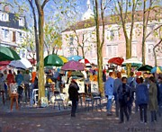 April Paintings - April in Paris by Roelof Rossouw