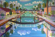 Charming Art - April on Retro Canal by Frank Strasser