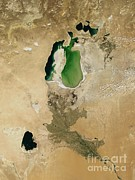 Sea Platform Prints - Aral Sea Print by NASA / Science Source