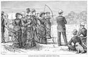 19th Century America Prints - ARCHERY, 19th CENTURY Print by Granger
