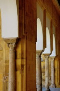 Great Mosque Prints - Arches of the Patio de los Naranjos in the Cathedral of Cordoba Print by Sami Sarkis