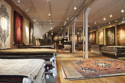 Rugs Posters - Area Rugs in a Store Poster by Jetta Productions, Inc