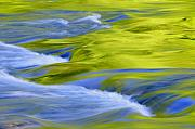 Blue Green Wave Photos - Argen River by Silke Magino