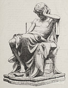 Greek Sculpture Prints - Aristotle, Ancient Greek Philosopher Print by Science Source