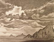 Skylines Drawings Originals - Arizona Sky by Jodi Harvey-Brown