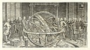 Signs Of The Zodiac Prints - Armillary Sphere, 18th Century Artwork Print by Detlev Van Ravenswaay