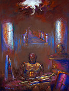 Biblical Pastels Framed Prints - Armor of God Framed Print by Tommy  Winn