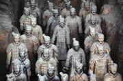 Warriors Framed Prints - Army Of Terracotta Warriors In Xian Framed Print by Axiom Photographic