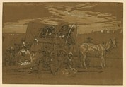 African Americans Prints - Arrival Of An African American Family Print by Everett