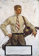 Golf Shirt Prints - Arrow Shirt Collar Ad, 1922 Print by Granger
