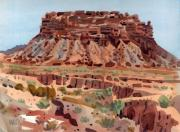 New Mexico Originals - Arroyo and Butte by Donald Maier