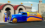 Art Deco Tapestries Textiles - Art Deco Gas Truck by Stuart Swartz