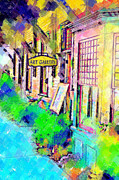 Pastel Art Prints - Art Gallery Print by Paul Bartoszek