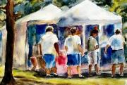 Afternoon Mixed Media Originals - Art in the Park by Barbara Jung