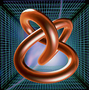 Grid Photos - Art Of Mathematical Knotted Torus by Pasieka