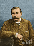 Famous Novels Posters - Arthur Conan Doyle, Scottish Author Poster by Photo Researchers