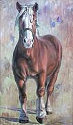 Belgian Paintings - Arthur The Belgian Horse by Hans Droog