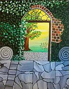 Brick Paintings - Arthurs Gate by Carolyn Cable