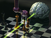 Chess Posters - Artificial Intelligence Poster by Laguna Design