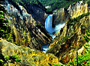 Thomas Moran Prints - Artists Point in Yellowstone Print by Matthew Winn