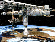 Manned Space Flight Art - Artwork Of The International Space Station by David Ducros