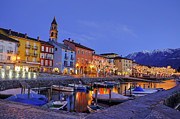 Christmas Lights Prints - Ascona Print by Joana Kruse