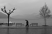Bad Weather Prints - Ascona with rain Print by Joana Kruse