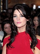 Hoop Earrings Prints - Ashley Greene At Arrivals For The Print by Everett