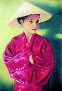 Hats Pastels - Asia as Asian by Jan Amiss