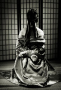 Shibari Prints - Asian Woman with Her Hands Tied Behind Her Back Print by Oleksiy Maksymenko