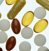 Tablet Prints - Assorted Pills Print by Lawrence Lawry