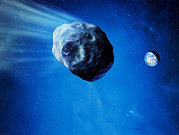 Asteroid Approaching Earth Print by Detlev Van Ravenswaay