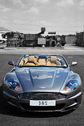 Selective Color Framed Prints - Aston Martin DBS Framed Print by Yhun Suarez