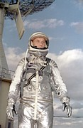 Firsts Posters - Astronaut John H. Glenn Jr., Lt Poster by Everett